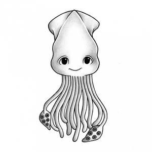 Bilde av Wallsticker - Stickstay Eleven The Squid
