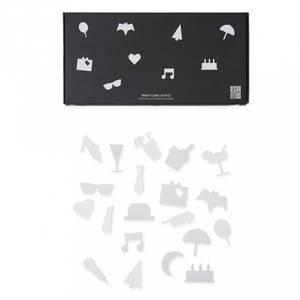 Bilde av Ikoner Til Tavle - Design Letters Party (White)