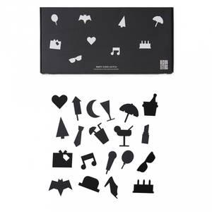 Bilde av Ikoner Til Tavle - Design Letters Party (Black)