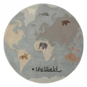 Bilde av Gulvteppe - OYOY The World (120 Cm)
