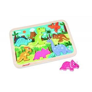 Bilde av Puslespill I Tre - Janod Chunky Puzzle Dinosaur