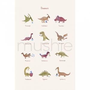 Bilde av Poster - Mushie Dinosaurs (29,7x42 Cm)