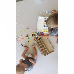 Bilde av Lekematte - Mikro Family Size (Grey Confetti/Geo Grey)