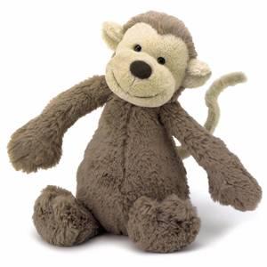 Bilde av Bamse - Jellycat Bashful Monkey 18 Cm