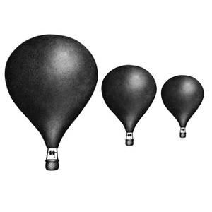 Bilde av Wallsticker - Stickstay Balloons (Nearly Black)