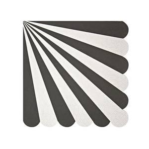 Bilde av Servietter - Meri Meri Black Stripe (Small)