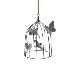 Bilde av Dekorasjon - Numero 74 Birdcage Medium (Silver Grey)