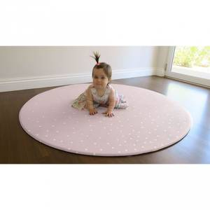 Bilde av Lekematte - Mikro Round (Pale Pink Confetti/Geo Grey)