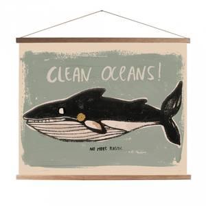 Bilde av Poster - StudioLoco Whale, Med Magnetisk Treramme (45x65cm)