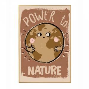 Bilde av Poster - StudioLoco World Power To Nature (50x70cm)