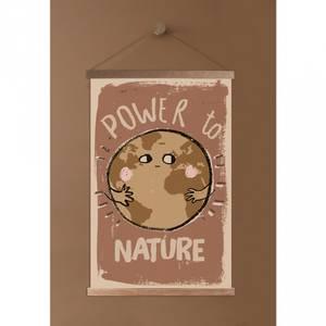 Bilde av Poster - StudioLoco World Power To Nature, Med Magnetisk Treramme (45x65cm)
