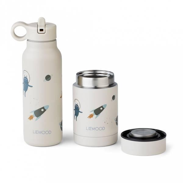 Mattermos & Drikkeflaske - Liewood Marlow (Space Sandy Mix)