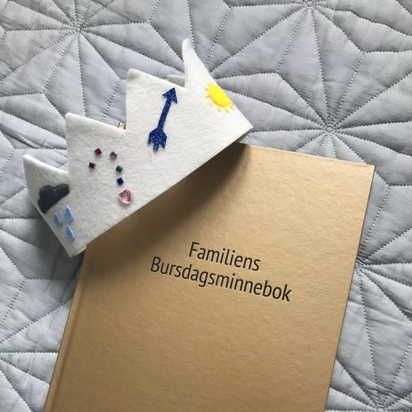Bok - Familiens Bursdagsminnebok