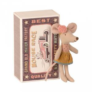 Bilde av Bamse - Maileg Little Sister Mouse In Matchbox