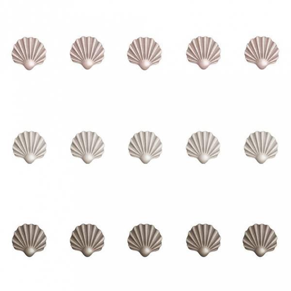 Wallsticker - Stickstay Shells 15 Stk (Beige, Pink, Brown)