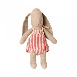 Bilde av Bamse - Maileg Bunny With Red Stripes Suit (Micro)