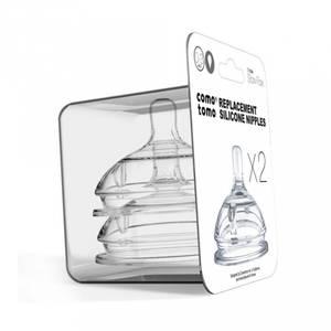 Bilde av Flaskesmokker - Comotomo Silikon Slow Flow (0-3 Mnd)