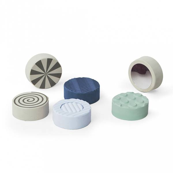 Aktivitetsleker 6-Pk - bObles Sense Stones (Blue)