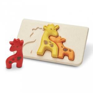 Bilde av Puslespill I Tre - Plantoys Giraff