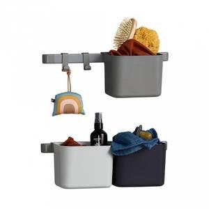 Bilde av Oppbevaringsholdere 3-stk - Leander Inkl. 2 Stk Kort Skinne (Dusty Grey)