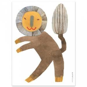 Bilde av Poster - OYOY Standing Lion (30x40 Cm)