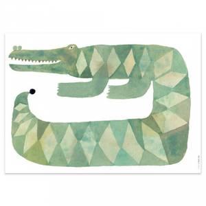 Bilde av Poster - OYOY Croccodile Gustav (70x50 Cm)