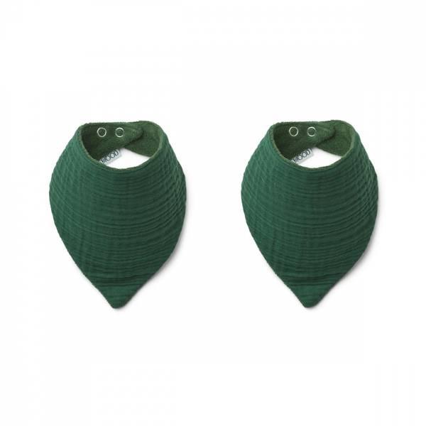 Liewood Andrea bib - 2 pack Garden green