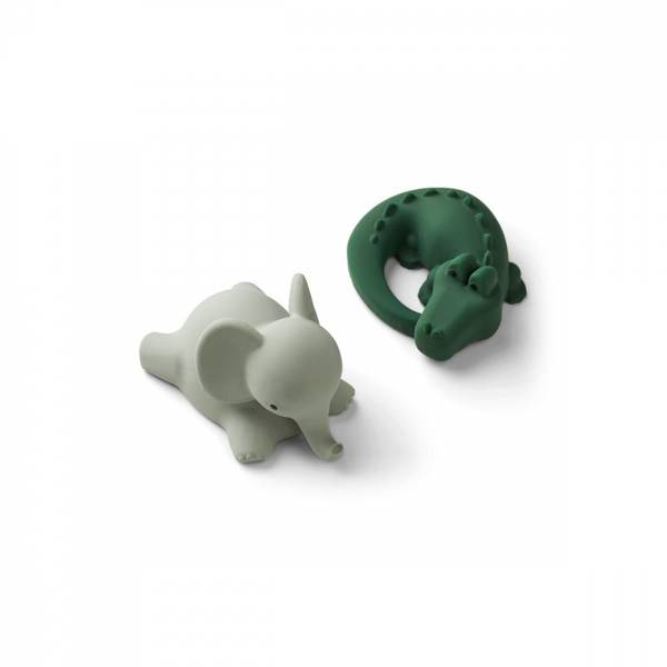 Liewood Vikky badeleker/ bath toys 2-pack Safari green mix