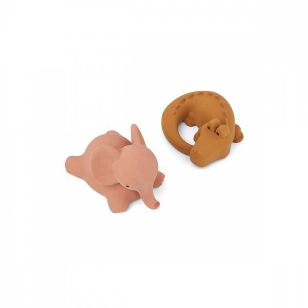 Liewood Vikky bath toys 2-pack Safari dark rose mix