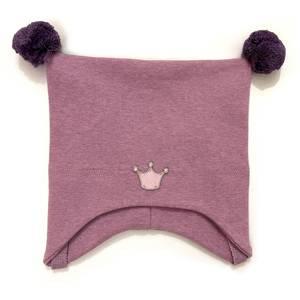 Bilde av Kivat knytelue med krone - rosa med lilla dusker