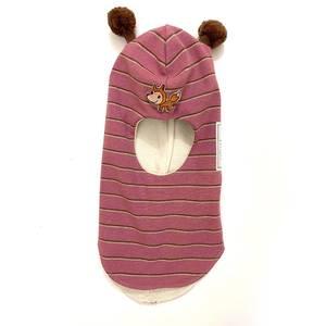 Bilde av Kivat balaclava med rev - rosa/brun med brune dusker