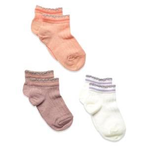 Bilde av MP IRENE sokker 3-pk - hvit/lilla/fersken