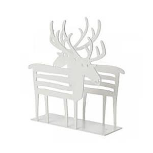 Bilde av Klippan reinsdyr serviettholder - hvit