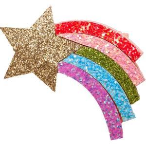 Bilde av Den lille prikken over i'en Glitter stjerneskudd regnbuehale