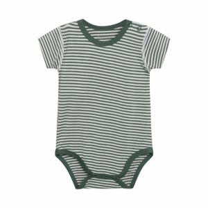 Bilde av Hust & Claire BUE body i bambus - Duck Green stripete