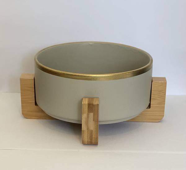 Bilde av Mittdyr Hundeskål i keramikk Grå