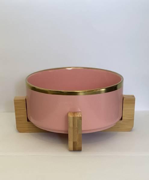 Bilde av Mittdyr Hundeskål i keramikk Rosa