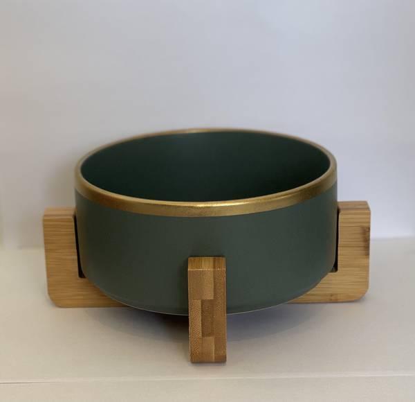 Bilde av Mittdyr Hundeskål i keramikk Grønn