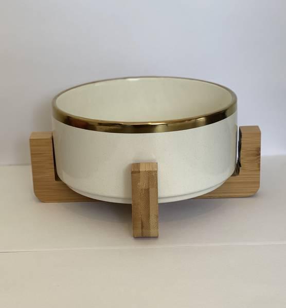 Bilde av Mittdyr Hundeskål i keramikk Hvit