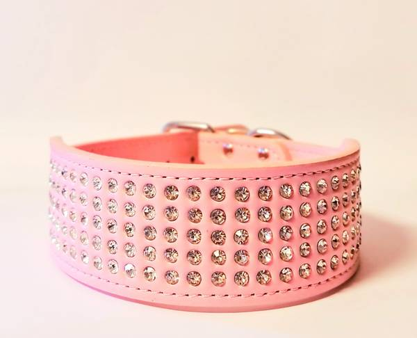 Bilde av Halsbånd med strass rosa