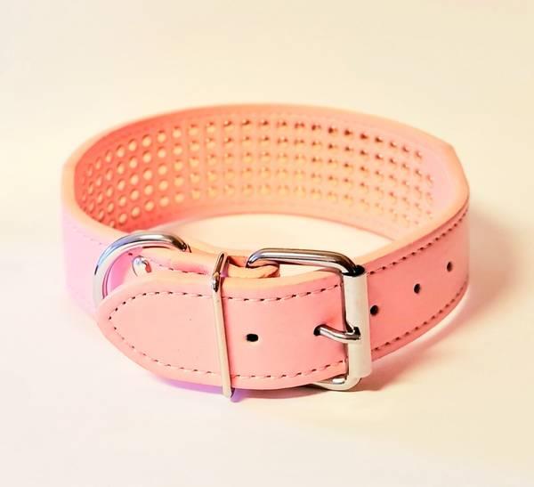 Halsbånd med strass rosa