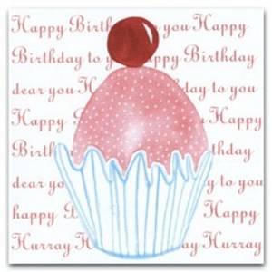 Bilde av Kort cupcakes happy birthday