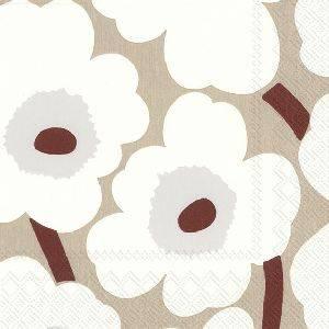 Bilde av Marimekko Unikko Serviett White Linen