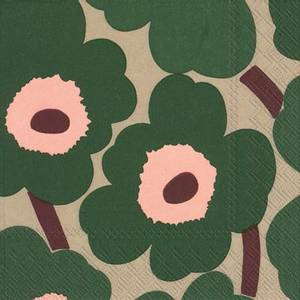 Bilde av Marimekko Unikko Serviett Green Rose