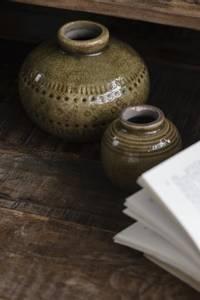Bilde av IB Laursen Vase Brun med krakelert glasur