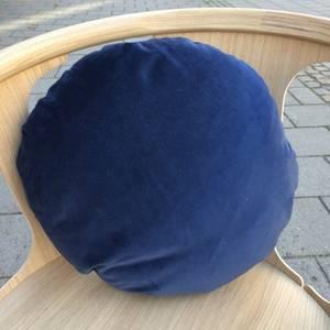 Bilde av Christina Lundsteen Basic Round pute Dusty Blue