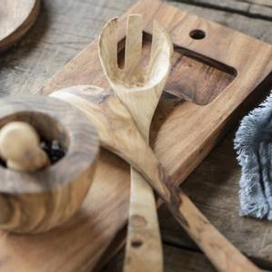 Bilde av Ib laursen Salatbestikk Olivia Unika oliventre