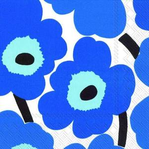 Bilde av Marimekko Unikko Serviett Blue