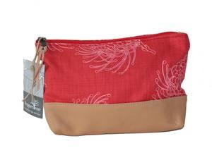 Bilde av Large zip purse red - Garden Bloom Rød