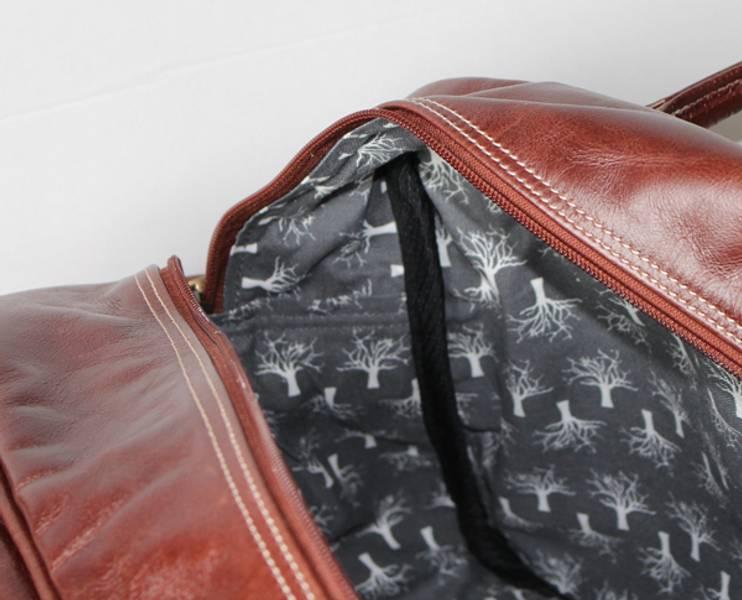 Helgebag i skinn - Weekend bag saddle